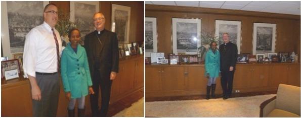 Bill Patenaude (my host in RI), myself and Bishop Thomas.