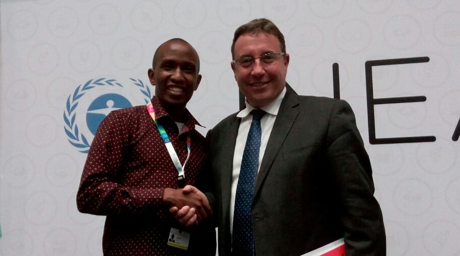 CYNESA David Munene With Achim Steiner At UNEA2