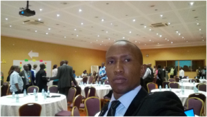 CYNESA's David Munene at the water breakaway session - WASH Kampala.