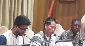 Youth Panellists from India, the Amazon and Kenya at the opening of the Laudato Si conference_Photo Credit Sally Axworthy
