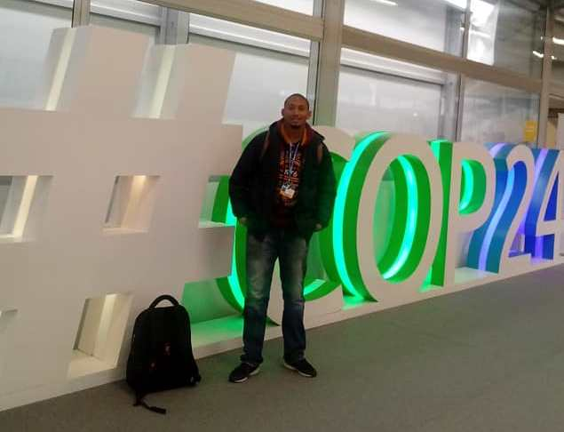 Fabian Oliver at COP24, CYNESA South Africa.