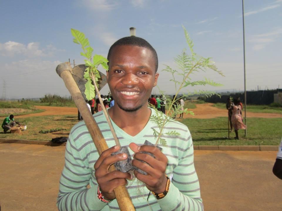 Eliode Bakole tree planting Tree planting in Uganda