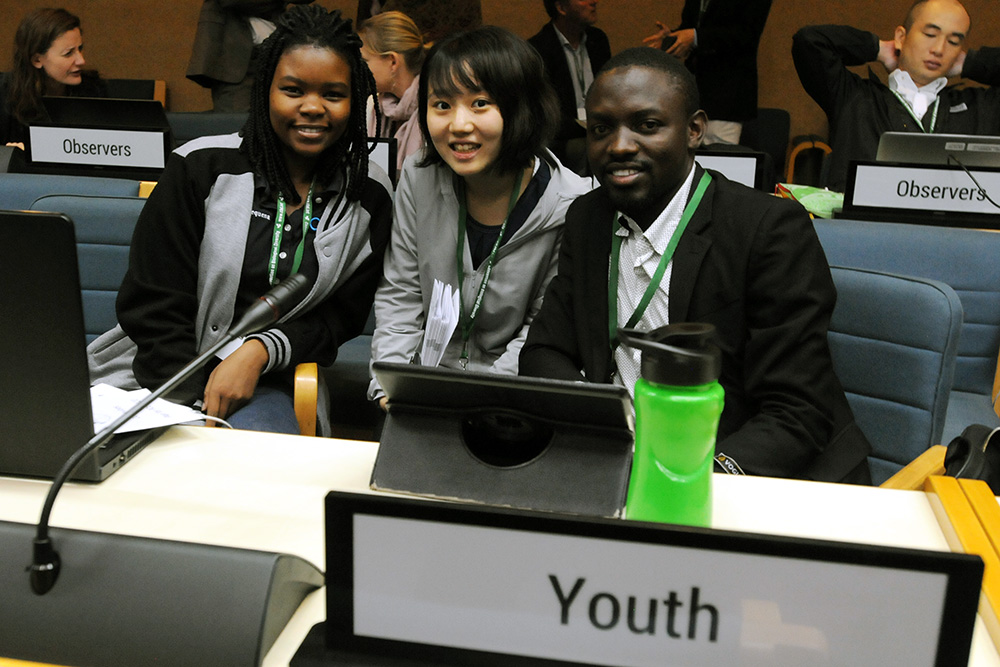 Delegates in the Youth Caucus