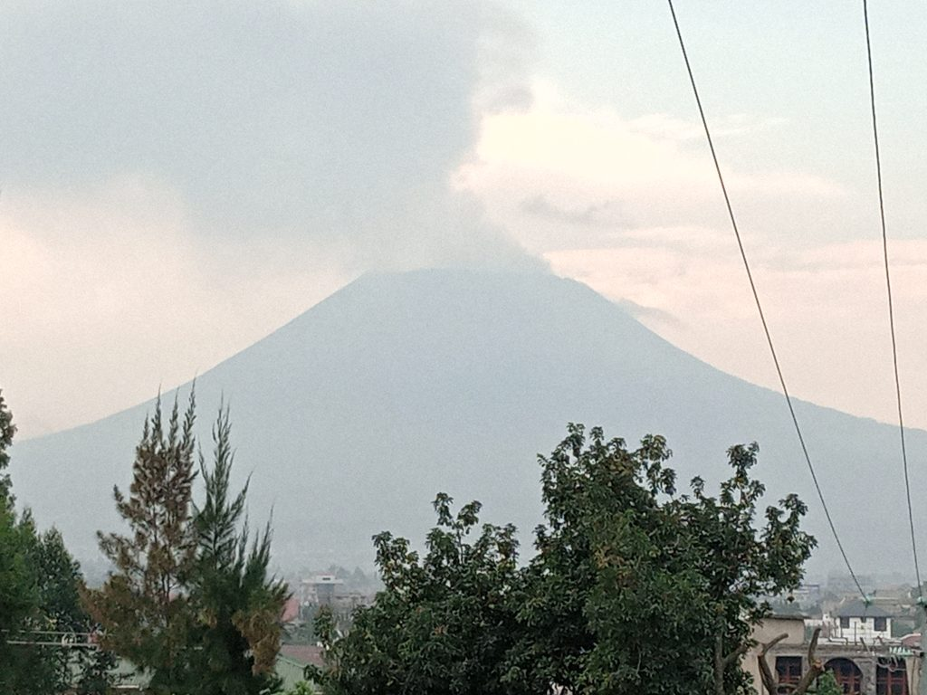 Nyiragongo Volcano eruption