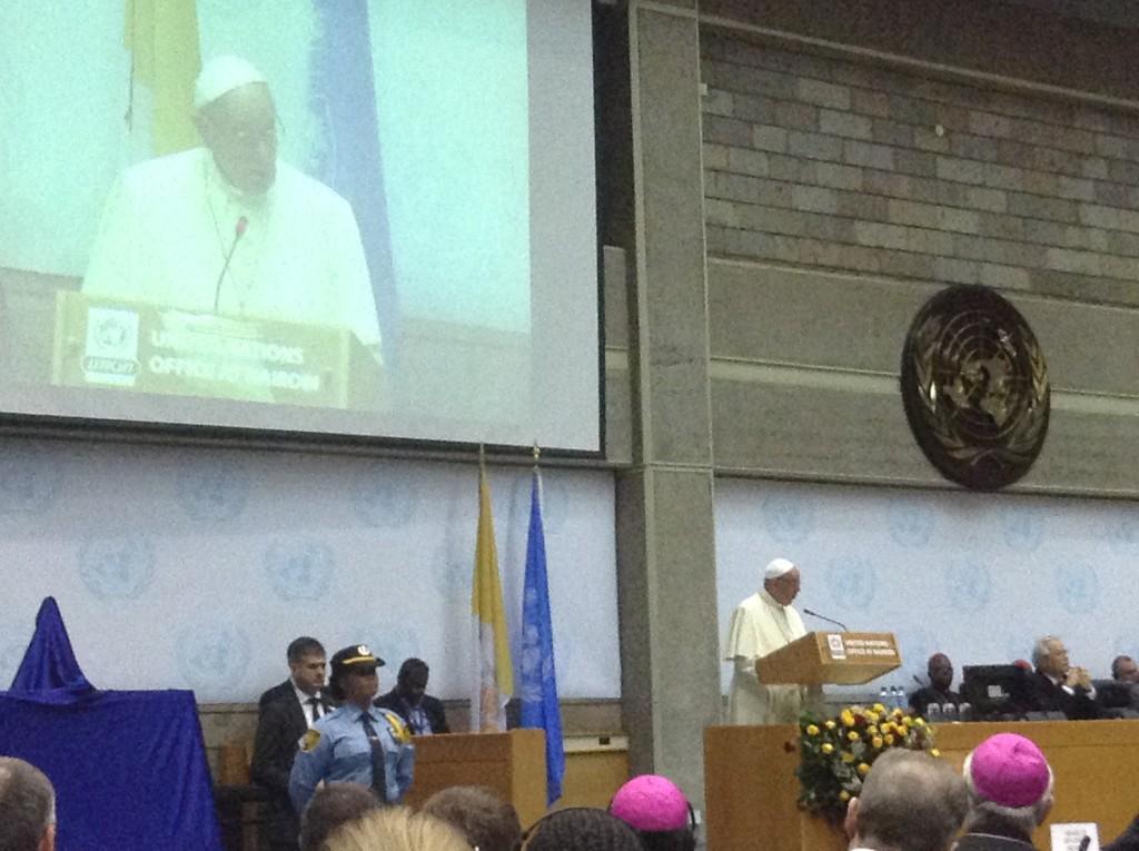 Pope Francis at UN Meeting Nairobi