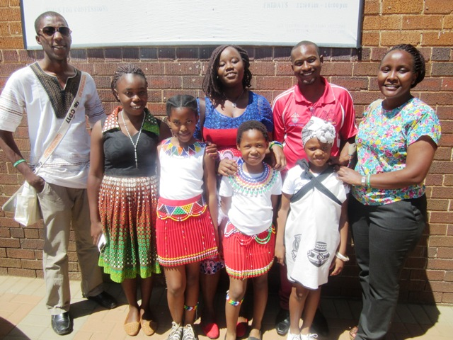CYNESA Team with children from St Phillip Moletsane