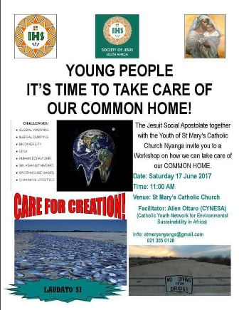 Laudato Si Workshop in Cape Town - CYNESA 2017
