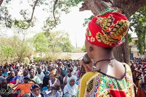 Doll Osman Abdi Addressing Community - CYNESA MultiFaith Women Leaders Workshop Mombasa